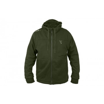 FOX COLLECTION SHERPA HOODY GREEN/SILVER