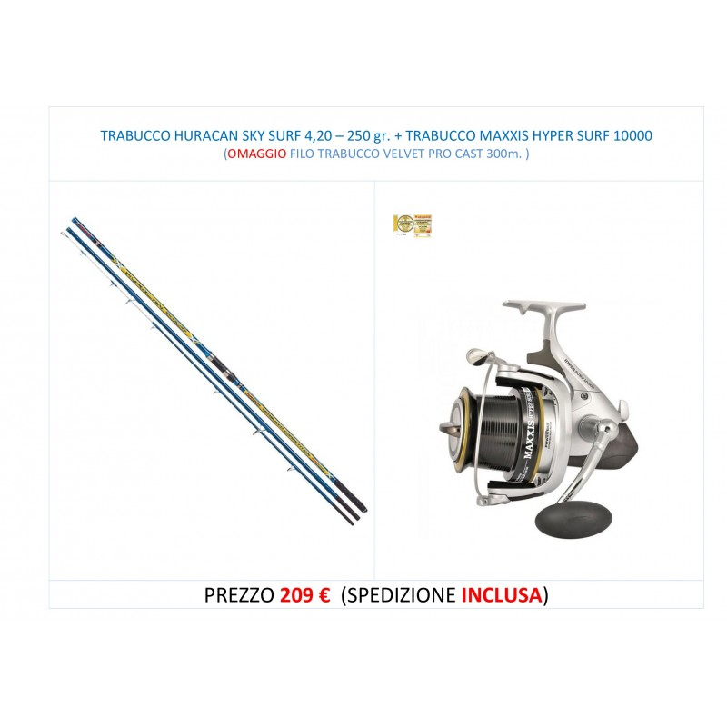 PROMO HURACAN 4,20 - 250 gr. + MAXXIS HYPER SURF 10000
